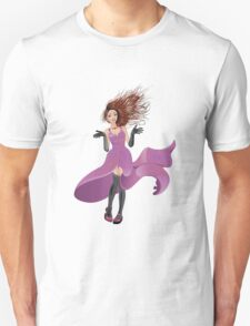 Girl in Flowing Dress Unisex T-Shirt