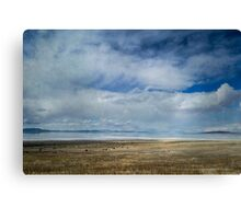 Clouds and Mountains Reflected in Great Salt Lake Canvas Print