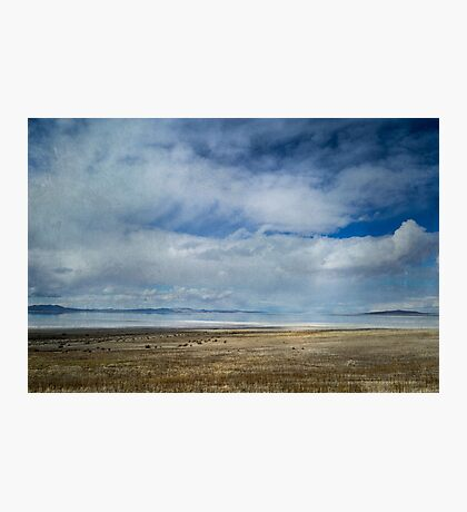 Clouds and Mountains Reflected in Great Salt Lake Photographic Print