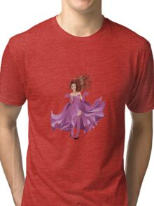 Girl in Flowing Dress 2 Tri-blend T-Shirt