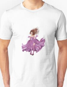 Girl in Flowing Dress 2 Unisex T-Shirt