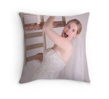 Frustrated Bride Throw Pillow
