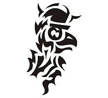 bird viking tattoo by Deanora
