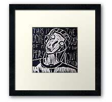Boredom Personified Framed Print