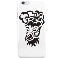 bird with hair tattoo iPhone Case/Skin
