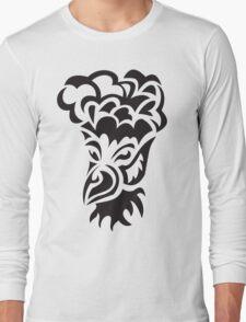 bird with hair tattoo Long Sleeve T-Shirt