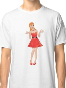 Girl in red dress 2 Classic T-Shirt