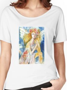 Angel in Waiting Women's Relaxed Fit T-Shirt