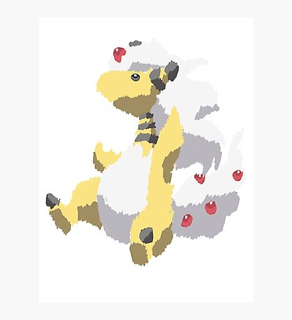 Ben's Mega Ampharos (No outline) Photographic Print