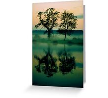 Twilight Lake Greeting Card