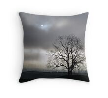 Out of the fog and little light Throw Pillow