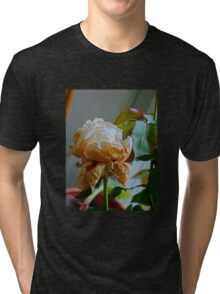 Fading white rose 4 Tri-blend T-Shirt