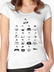 The Greatest Riders - Bici* Legendz Collection Women's Fitted Scoop T-Shirt