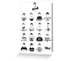 The Greatest Riders - Bici* Legendz Collection Greeting Card