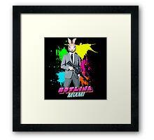 Hotline Miami - Graham the Rabbit Mask Framed Print