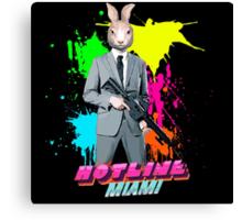 Hotline Miami - Graham the Rabbit Mask Canvas Print