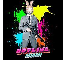 Hotline Miami - Graham the Rabbit Mask Photographic Print