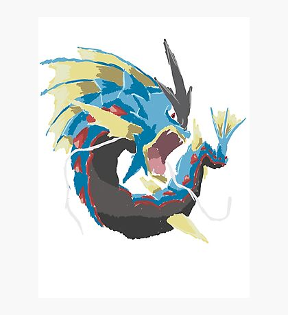 Derek's Mega Gyarados (No outline) Photographic Print