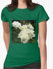 Close up of white roses 3 Womens Fitted T-Shirt