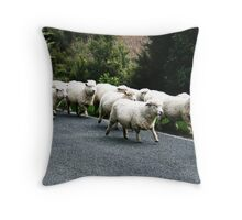 Surrounded By Sheep Throw Pillow