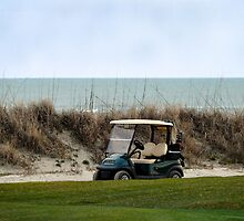 Golf Cart, The Ocean Course, Kiawah Island, South Carolina by Catherine Sherman