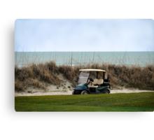 Golf Cart, The Ocean Course, Kiawah Island, South Carolina Canvas Print