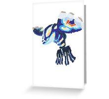 Becca's Primal Kyogre (No outline) Greeting Card
