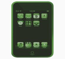Green iPod Touch by Rebecca Kingston