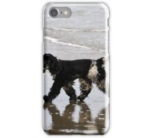 English Cocker Spaniel on the Beach iPhone Case/Skin