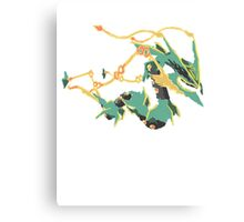 Owain's Mega Rayquaza (No outline) Canvas Print
