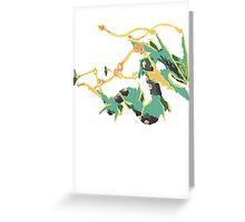 Owain's Mega Rayquaza (No outline) Greeting Card