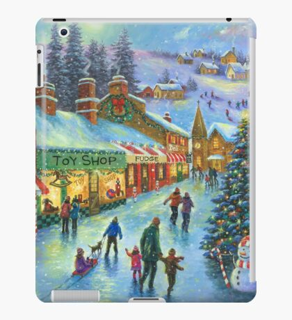 CHRISTMAS ON PEPPERMINT LANE PAINTING iPad Case/Skin