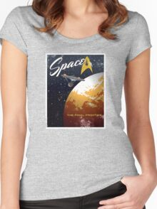 Space The Final Frontier Women's Fitted Scoop T-Shirt