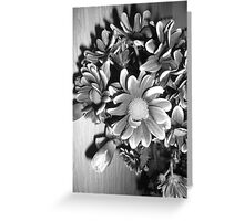 Floral Display in Black and White Greeting Card