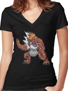 Derek's Tyrantrum Women's Fitted V-Neck T-Shirt