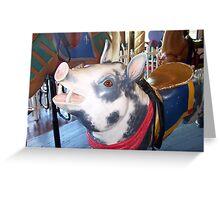 Pig with Red Bandana Greeting Card