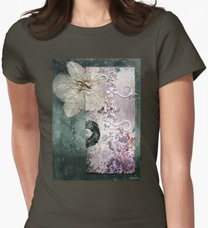 The Moth Orchid Womens Fitted T-Shirt