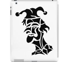 harlequin tattoo turned to left iPad Case/Skin