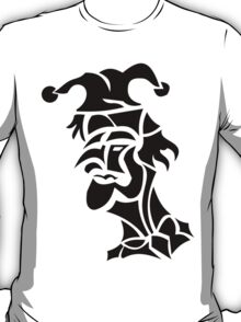 harlequin tattoo turned to left T-Shirt