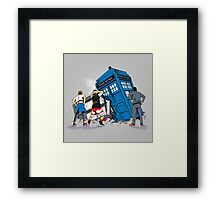 TIME CRASH Framed Print