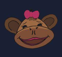 cartoon style monkey head One Piece - Short Sleeve