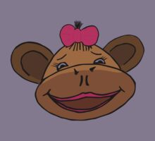cartoon style monkey head Kids Clothes
