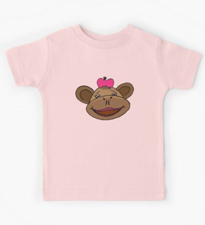 cartoon style monkey head Kids Tee