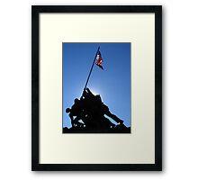 Iwo Jima Monument in Sun  Framed Print