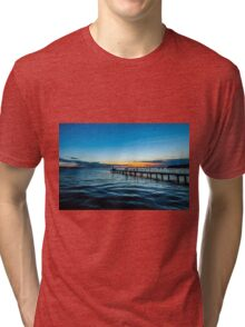 Sunset over the Slovenian Coastline Tri-blend T-Shirt