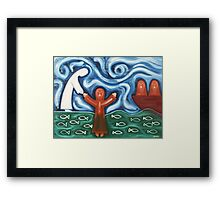 WALKING ON WATER Framed Print