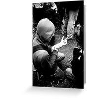 g8 protests, Edinburgh Greeting Card