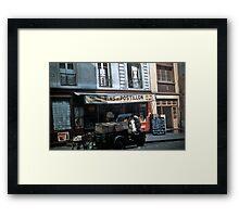 Vintage Paris Street Life 1956 Vin Framed Print