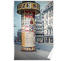 Vintage Paris Street Life 1956 SUZE Poster