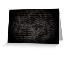 Black knitted fabric texture  Greeting Card